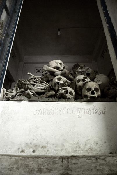 Cambodia SkullsBW_resize